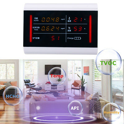 Multifunctional Air Quality Pollution Monitor Home Indoor Formaldehyde Detector