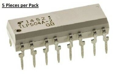 Toshiba TLP504A-2F DC Input Transistor Output Quad Optocoupler, Through Hole