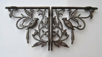 2 vtg victorian cast iron wall shelf eastlake brackets antique style 18.5x17.5cm