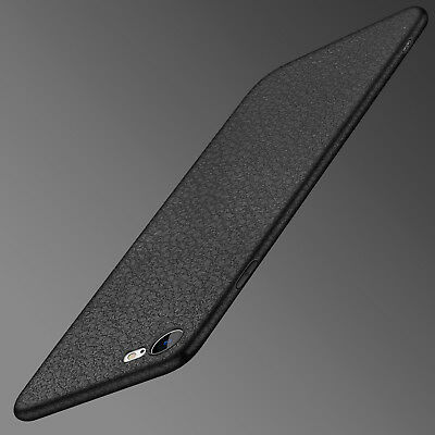 Luxury Ultra Thin Slim Leather Soft TPU Case Cover For iPhone XS Max 8 7 6s Plus