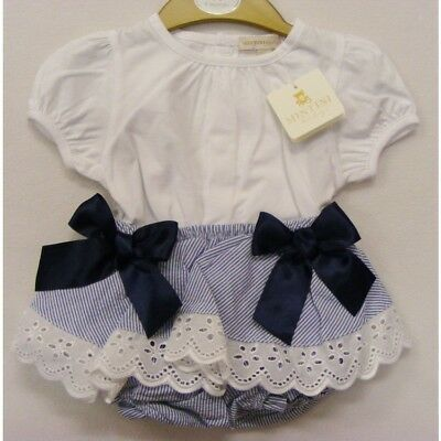 Stunning Mintini Baby Romany Spanish Style 2 Piece Set Ribbon Bows Outfit SS'18