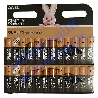 24X Duracell AA Alkaline Batteries LR06 Long Lasting MN1500