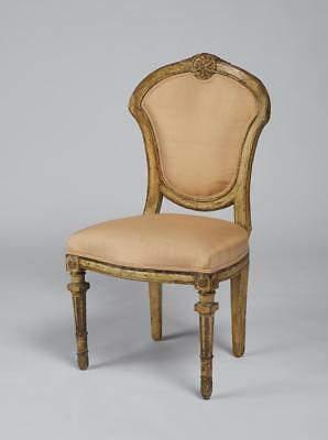 Antique Louis XVI Style Painted Carved Side Chair Lot 329