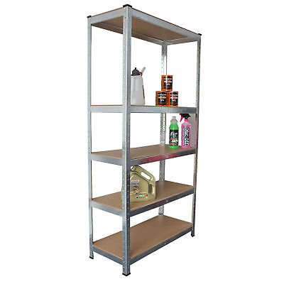 5 Tier Metal Shelving Unit Heavy Duty Boltless Industrial Shelves Storage Garage