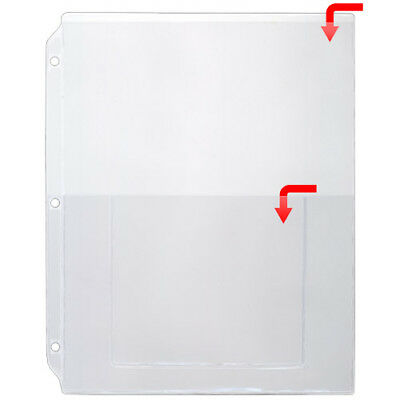 Rolodex business card binder refill pages 67695 two 5 packs 10 storesmart plastic sheet protector for 3 ring binders open short 10pk vh405 10 colourmoves