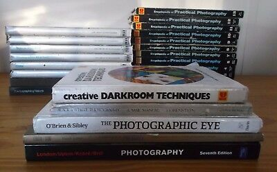 Lot of 25 Photography Books Photography Guides - Mostly Kodak & Time Life Books