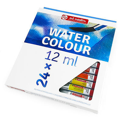 Royal Talens - Art Creation Watercolour Paints Beginners Set - 24 x 12ml Tubes