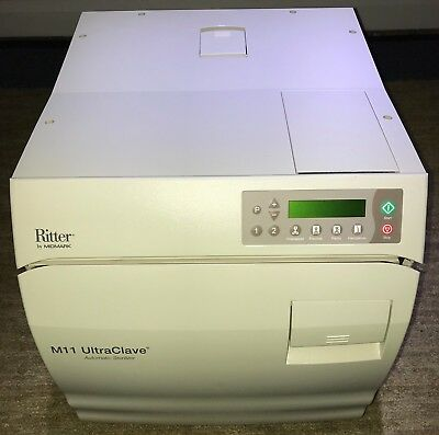 Midmark M11 Ritter Autoclave Ultraclave Sterilizer Only 131 Total Cycles
