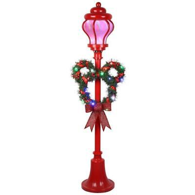 Gemmy Disney Mickey Mouse 5u0027 Freestanding Lamp Post With Multi Color LED  Lights