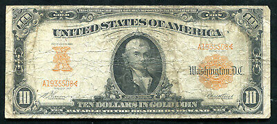 Fr. 1167 1907 $10 Ten Dollars Gold Certificate Currency Note