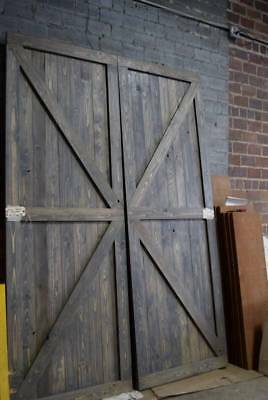 Huge Craftsman Custom Made Board Cypress Wood Door Pair