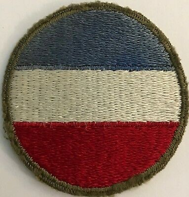 "WW2 Vintage US ARMY GROUND FORCES SHOULDER PATCH OD Border Cut Edge 21/4"" #49171"