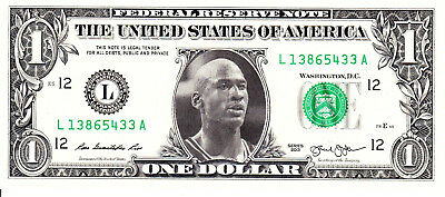 Michael Jordan Celebrity Dollar Bill