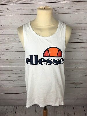 19d745272a5dbf MEN S ELLESSE VEST - Size Medium - White - Great Condition -  26.05 ...