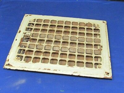 Antique Steel Floor Register Furnace/Heater Vent Cover Shield Vintage Grate,8x10
