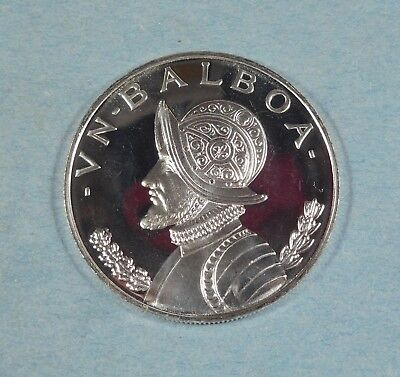 1972 PANAMA 1 BALBOA COIN  - Silver - PROOF