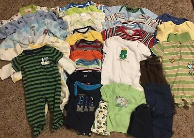 HUGE lot of baby boy 18pc clothing. 3-9 months. Carters & more.