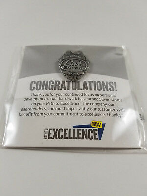 Geek Squad Official Best Buy Path To Excellence Training Badge Medallion Silver