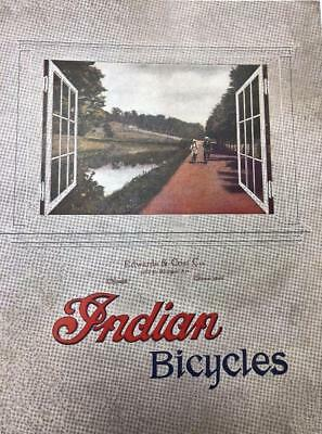 1921 INDIAN Cycles bicycle CATALOG HENDEE MFG CO Springfield Mass COPY
