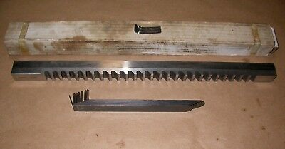 """DuMont Minute Man 1"""" Style F, High Speed Steel Broach, With Shims"""