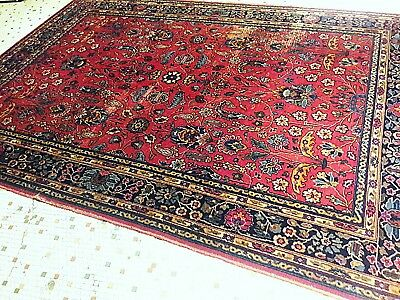 Antique Art Deco Rug 8X10 American Made 1928 Burgundy