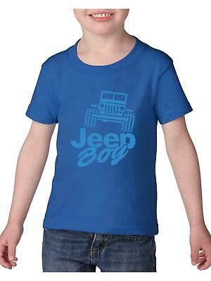 Jeep Boy Humor Trucks Gift for Heavy Cotton Toddler Kids T-Shirt Tee Clothing