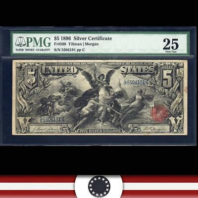 1896 $5 Silver Certificate PMG 25 Fr 268 EDUCATIONAL NOTE  5504191