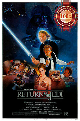 New Return Of The Jedi Star Wars Movie Film Original Cinema Print Premium Poster