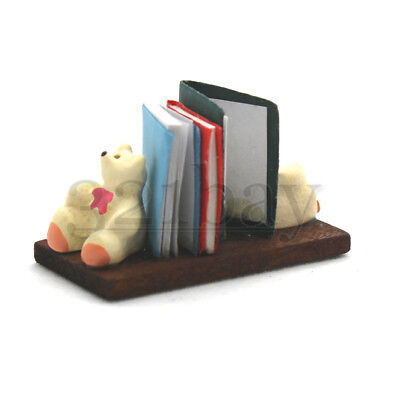 Dollhouse Nursery Bookshelf Book Teddy Dollhouse Book Shelf Miniature Toys 1:12