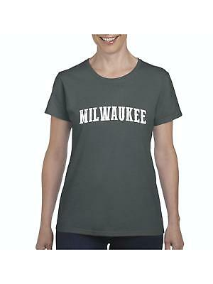 65ca19576 Milwaukee WI Map Badgers Panthers Home University of Wisconsin Flag T-Shirt
