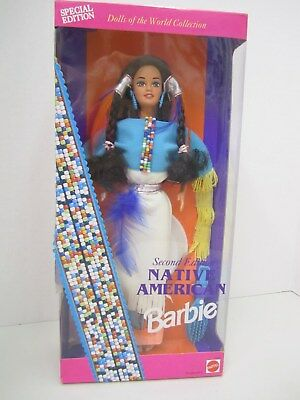 NATIVE AMERICAN BARBIE - Second Edition - Dolls of the World Collection 1993