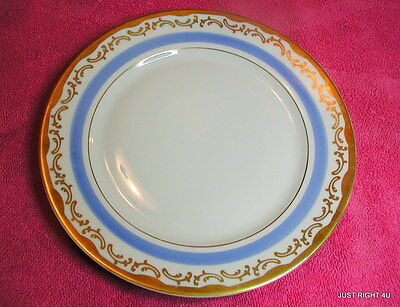 """H & CO Heinrich Selb (Blue Band) 8"""" SALAD PLATE Exc Decorated by Roloff"""