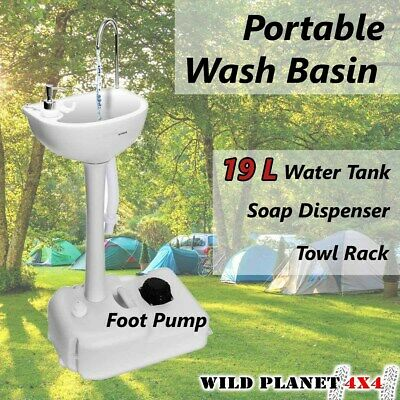 Portable Sink Wash Basin Stand Camping Food Event Building 19L Water Capacity