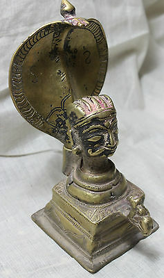Miscellaneous Indian Antiques Vintage Old Brass Metal God Statue shiva head