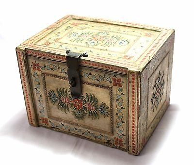 Indian Old Vintage Hand Made Beautiful Unique Design Wooden Jewellry Drawer Box