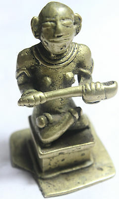 Miscellaneous Indian Antiques Vintage Old Brass Metal God Saraswati Statue Devi