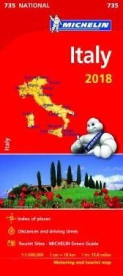 Italy 2018 National Map 735 2018 9782067226586 (Sheet map, folded, 2018)