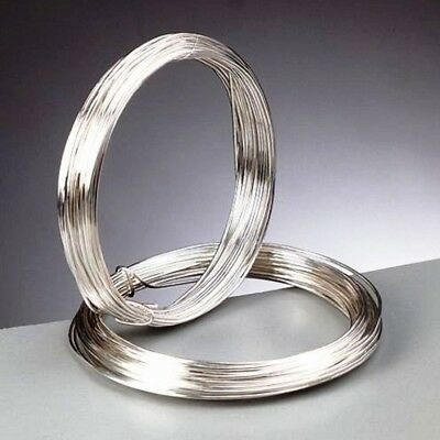 0.4 mm (26 gauge) Silver Plated Craft/Jewellery/Florist Wire Non Tarnish 20m