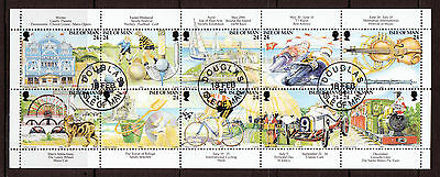 Isle Of Man 1994 Manx Tourism Centenary Booklet Pane Fine Used