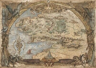 middle earth map poster 01 4 sizes you choose hobbitlord