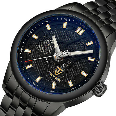c1d48279327 Mens TEVISE Business Automatic Mechanical Stainless Steel Luminous Watch