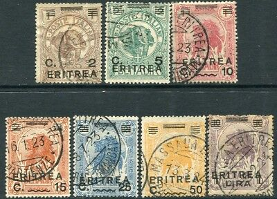 ERITREA-1922 Somalia Overprints Set of 7 Values Sg 57-63 FINE USED V20965