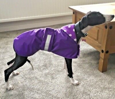 """WHIPPET / LURCHER PUPPY WATERPROOF COAT , JACKET , RUG 12"""" to 19"""" NEW"""