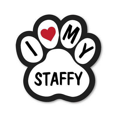 I Love My Staffy Car Van Lorry Wall Vinyl Self Adhesive Stickers