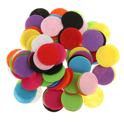 100pcs Rainbow Color Round Felt Fabric Table Confetti Wedding Party Scatters DIY