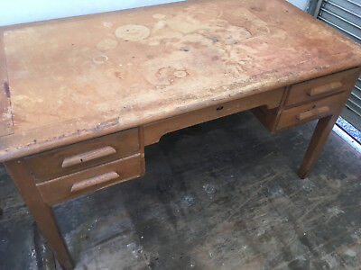 Vintage solid wood desk
