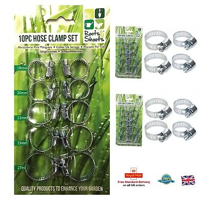 27mm Assorted Jubilee Stainless Steel Hose Clamp Fuel Pipe Clips Set 12pc 18mm