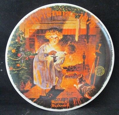 Somebody's Up There Christmas 1979 Norman Rockwell Collector Plate