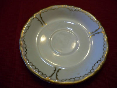Iroquois China Saucer only Syracuse, NY Gold Trim