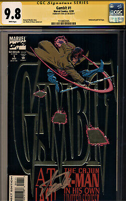 Gambit #1 Cgc 9.8 Embossed Gold Foil Logo Signed By Stan Lee!!~~~~